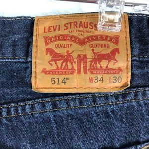 Levi's Jeans - Levi's 514 34 x 30 Straight Fit Five Pocket jeans